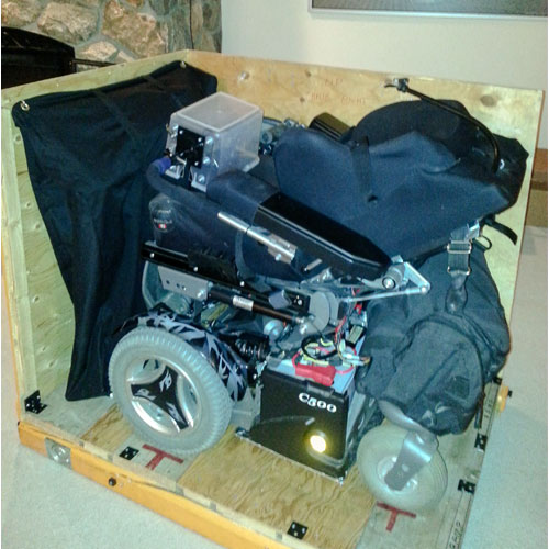 Crating The Powerwheelchair Before Japan Trip