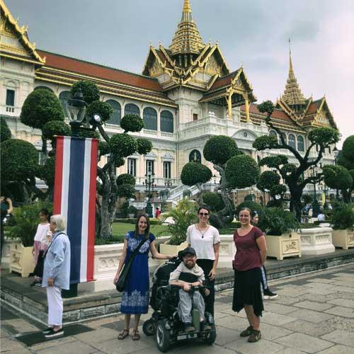 Ean visiting a Bangkok temple