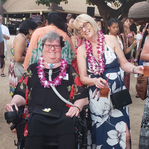 Nancy enjoying a Luau in Hawaii