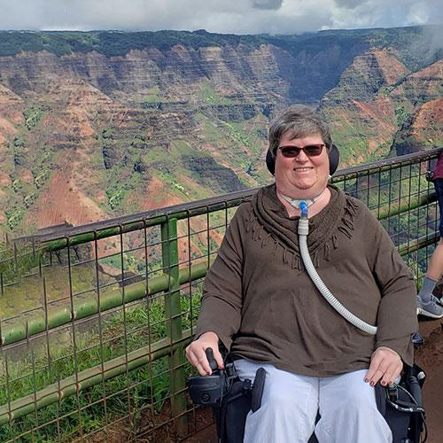 Nancy visiting Waimea Canyon