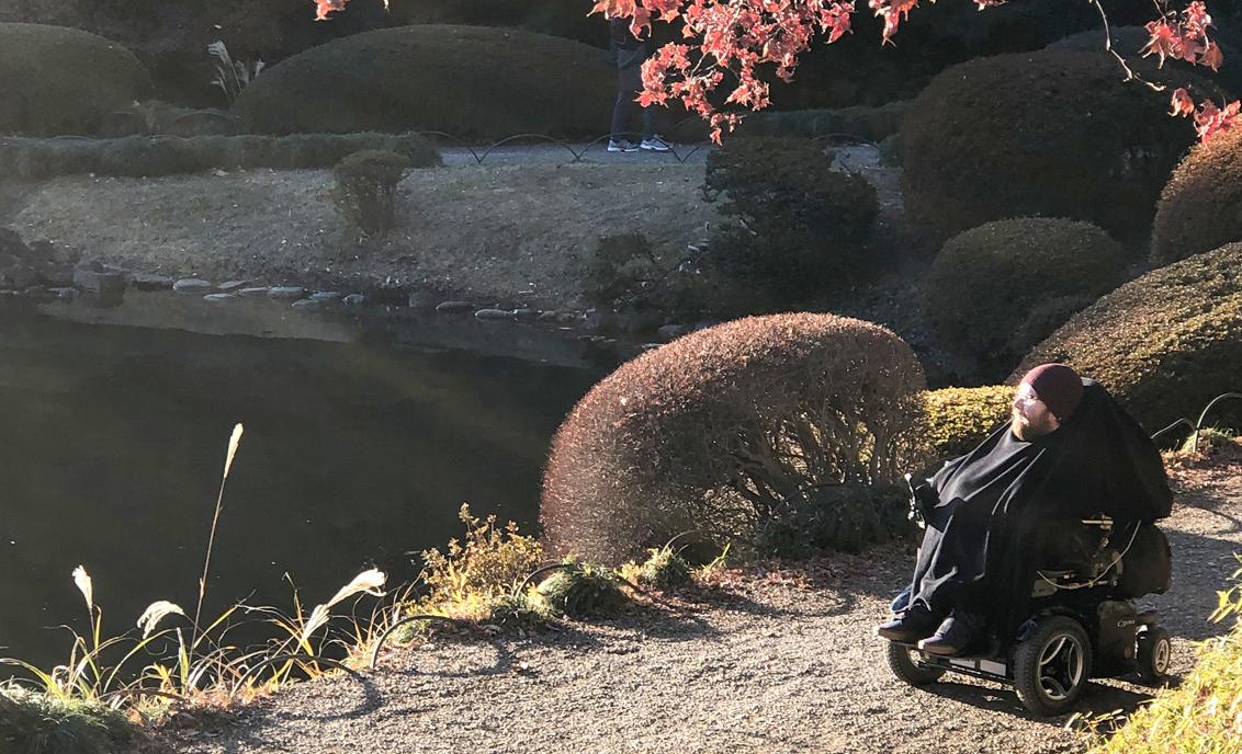 Ean enjoying a Kyoto Garden
