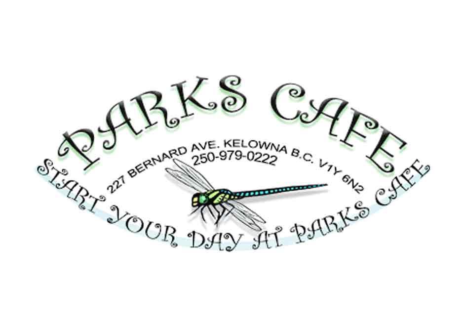Parks Cafe Logo in Kelowna